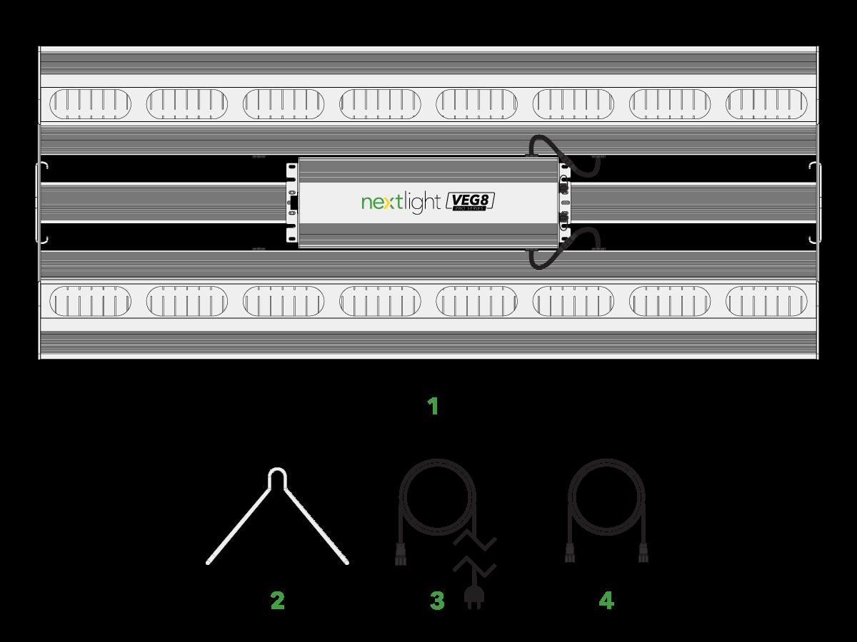 Veg8 Pro Package Contents